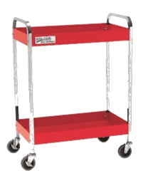 "Picture of 2 Drawer 30"" Service Cart, Red"