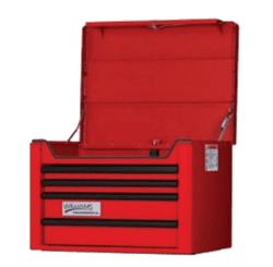 "Picture of 26"" Wide x 20"" Deep 4-Drawer Top Chest, Professional Series, Red"