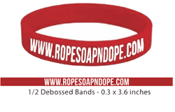 "Picture of 1/2"" Ropesoapndope.com Rubberband"