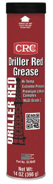 Picture of Driller Red Grease Extreme Pressure Lithium Complex Grease, 14 Wt Oz