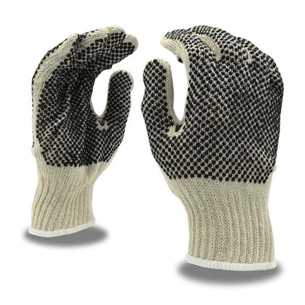 Picture of Glove Cotton White w/ Dot Black Knit Reversible