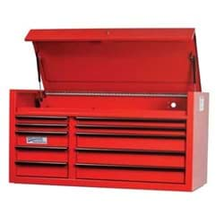 "Picture of 55"" Wide x 24"" Deep 10-Drawer Tool Chest, Professional Series, Red"