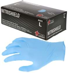 "Picture of Disposable Chemical Glove Nitrile 4mil. Non-Powdered ""DuraShield"" - XL"